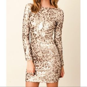 Dress the Population Sequin Bodycon Mini Dress